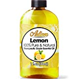 Artizen Lemon Essential Oil (100% Pure & Natural - UNDILUTED) Therapeutic Grade - Huge 1oz Bottle - Perfect for Aromatherapy, Relaxation, Skin Therapy & More!