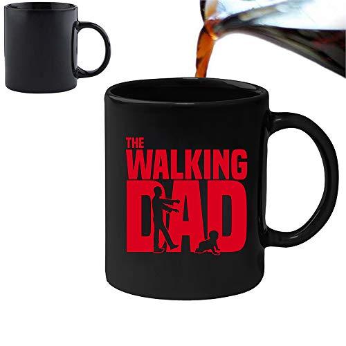 The Walking Dad – Taza mágica que cambia el calor y caja de regalo, set de té, café, oficina, hogar