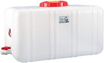 Dore Home 200L Horizontal Plástico Tanque De Almacenamiento De Agua del Cubo Grande De Agua con Tapa Exterior Plaza De Almacenamiento De Agua del Cubo (Size : 200L)