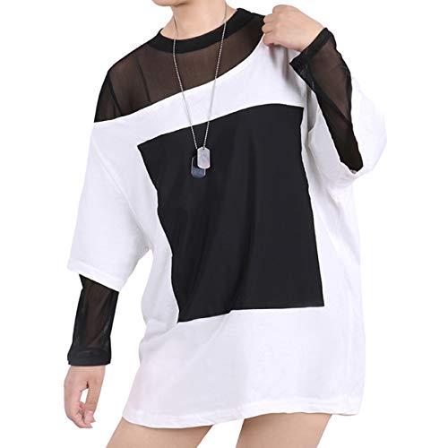 Xin Hai Yuan Kda Akali Cosplay Costume 2020 Nueva Camiseta Blanca Suelta Collar Fuera del Hombro Halloween Anime Cosplay Disfraces,L