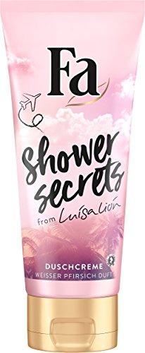 Fa Shower Secrets von Luisa Duschgel, Weisser Pfirsich, 6er Pack (6 x 200 ml)