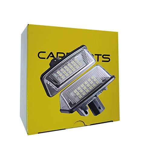 1 CARPARTSJP®LED ライセンスランプ ナンバー灯 トヨタ用 10系 アルファード 10系 ウィッシュ 30系 50系 エスティマ 60系 70系 ノア ヴォクシー (LED ライセンスランプ)