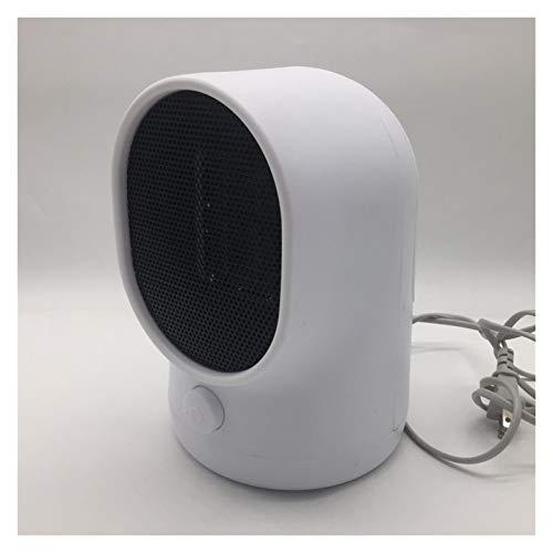 Calentador eléctrico Mini Ventilador Calentador de Escritorio Muro de Escritorio Handy Handy Staking Estufa Radiador Calentador Máquina para el Invierno Plastic Fácil de Usar (Color : White)