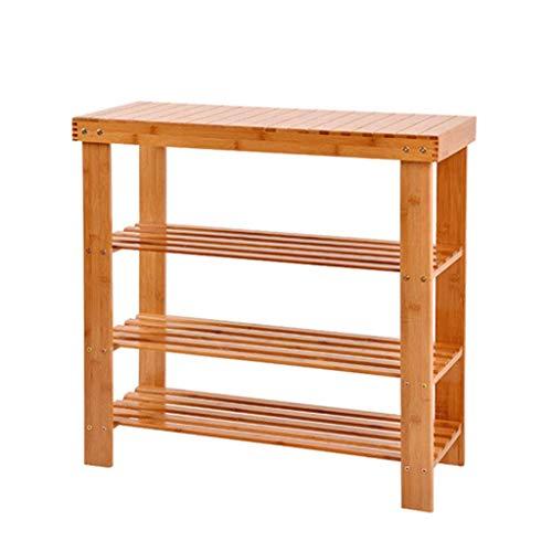 Hewei Schoenenrek, plank, kast, schoenenkast, schoenenkast, van natuurlijk bamboe, ruimtebesparend, 70 cm breed, stofdicht