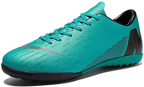 N /A Unisex Botas de fútbol, bajo-Top de los Zapatos de Las uñas rotas Las Grapas del fútbol Profesional Spikes Las Zapatillas de Deporte de Formación Boy/Competencia con la Grapa 2020,Azul,39