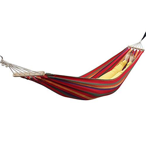 OYYTY Outdoor Hamac de Voyage Ultra Light 2 * 0.8 M Tapis de 150 kg avec Fixation pour Voyage, Camping, Jardin, Trekking, Plage, de Voyage Hammock