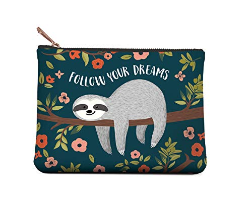 Studio Oh! Zippered Pouch, Small, Follow Your Dreams Sloth, Model: POS02