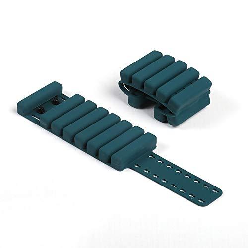 YUNZUN 2 Piezas Lastres Tobillos Pesas 1 kg con Correa Ajustable, para Ejercicios RecuperacióN, Fitness, Ejercicio, Caminar, Trotar, Caminando Corriendo