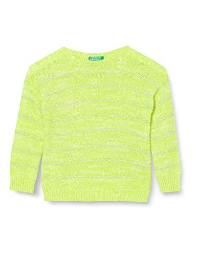 United Colors of Benetton Maglia G/c M/l Jersey, Amarillo (Giallo Fluo 902), 86/92 (Talla del Fabricante: 2Y) para Bebés