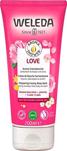 WELEDA Aroma Shower LOVE – Wohltuende Naturkosmetik Cremedusche mit herrlich, romantischem Duft umhüllt mit Liebe und Zärtlichkeit (1 x 200ml)