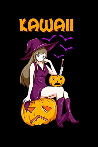 Kawaii: Kawaii Girl Halloween Anime Witch Waifu Blank Composition Notebook for Journaling & Writing (120 Lined Pages, 6' x 9')