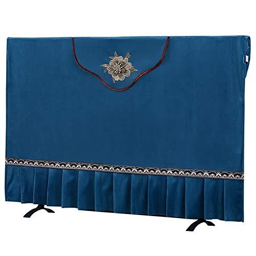 47-B Cubierta de TV cubierta de tela para televisión, cubierta antipolvo para televisión, tela de cachemira, color azul, tamaño: 70 pulgadas