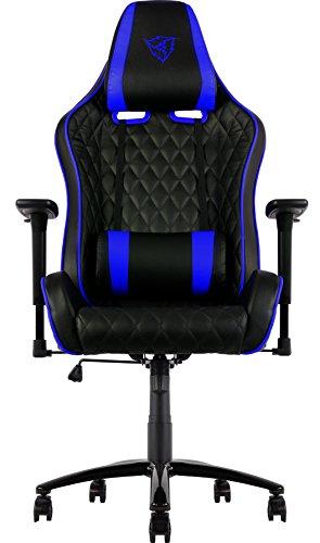 ThunderX3 Sillas Gaming Profesional, Poliuretano, Azul, 63x32x80 cm