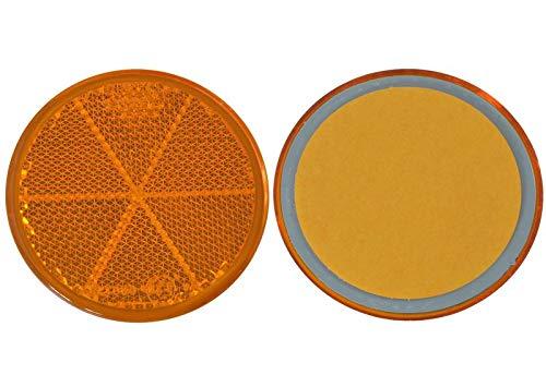 FKAnhängerteile 20 x Spot – Réflecteur arrière – Collage – Ø 60 mm – Jaune – E de marque de contrôle