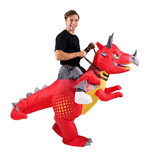 HORYEE Inflatable Dinosaur Costume Adult Men Women Inflatable Ride on Dinosaur Costume