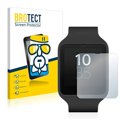 BROTECT Panzerglas Schutzfolie kompatibel mit Sony Smartwatch 3 SWR50 - AirGlass, 9H Festigkeit, Anti-Fingerprint, HD-Clear
