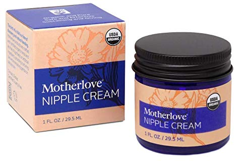 Motherlove Nipple Cream (1 oz.) Organic Lanolin-Free Herbal Salve for Soothing Sore Nursing Nipples – Unscented Ointment, No Need to Wash Off Prior to Breastfeeding, Great as a Pump Lubricant