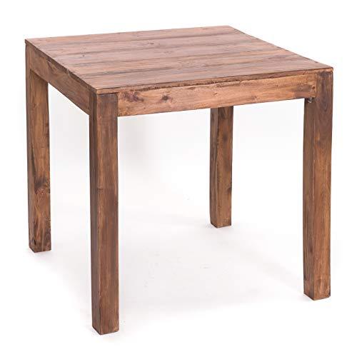 Massief houten EETTAFEL East 80 | oud hout, 80x80x80 cm (HxBxD) | houten tafel, bistrotafel van massief hout, keukentafel, eettafel | kleur: 02 lichtbruin