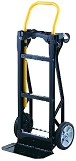 Harper Trucks Lightweight 400 lb Capacity Glass Filled Nylon Plastic Convertible Hand Truck and Dolly (Renewed)