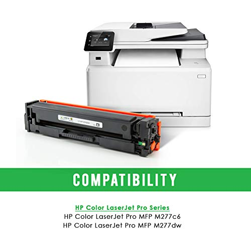 LINKYO Compatible Toner Cartridge Replacement for HP 201X 201A CF400X (Black, High Yield, 2-Pack)
