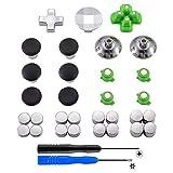 eXtremeRate PS4 Thumbsticks Buttons Sticks D-Pad Kappen Trigger Analogsticks Tasten Set aus Aluminium für Playstation 4 (31 Teiliges Set)