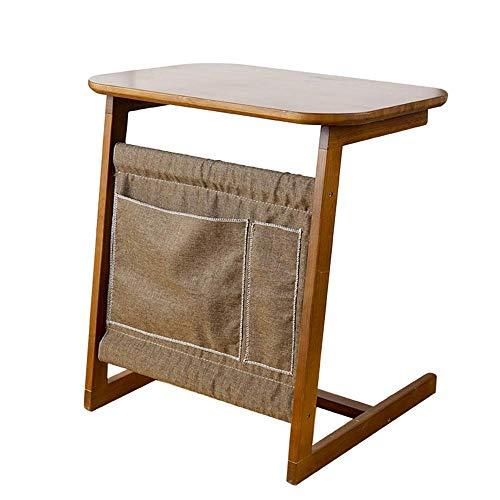 N/Z Wohnausstattung Moderner minimalistischer Salon Sofa Beistelltisch/Schreibtisch Holzsofa Multifunktionsschlafzimmer Nachttisch Laptop