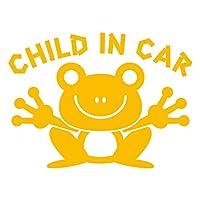 imoninn CHILD in car ステッカー 【シンプル版】 No.22 カエルさん (黄色)