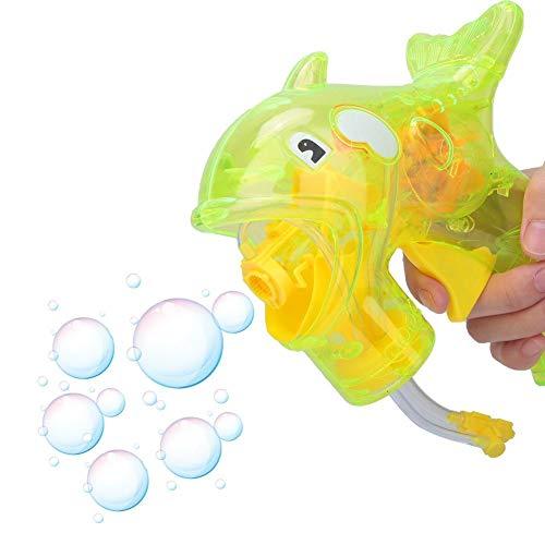 CHICIRIS Máquina de soplado de Burbujas, para niños Máquina de Burbujas Manual con 2 Botellas Solución de Recarga de Burbujas para Actividades al Aire Libre, Pascua, Regalo de cumpleaños(Verde)