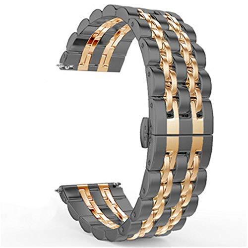 DALIANMAO 22 mm 20 mm Banda de Banda Correa de Acero Inoxidable Pulsera de Pulsera de muñeca en Forma para Cualquier Reloj Inteligente con Marco de 22 m Tales