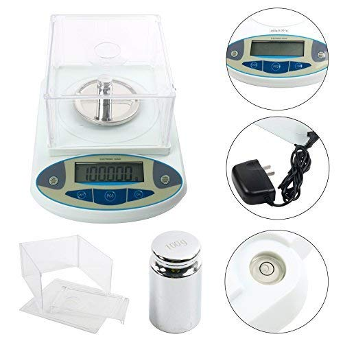 200 x0.001g 1mg Lab Analytical Balance Digital High Precision Electronic Scale Jewelry Scale (200x0.001g)