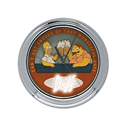 The Simpsons Animated Flashing Wall Clock Barney And Homer Toast
