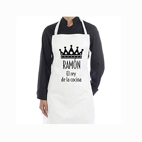 Regalo Personalizado para Hombres: Delantal el Rey de la Cocina Personalizable con Nombre