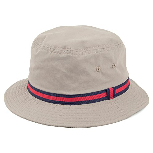 Village Hats Chapeau Bob Hydrofuge à Rayures Dorfman Pacific - Large