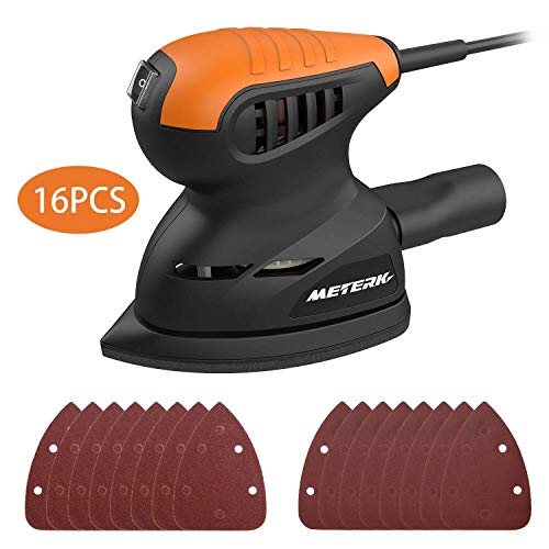 Big Save! Mouse Detail Sander, Meterk 13500RPM Sander Wall Putty Polishing Machines Sander with 16PC...