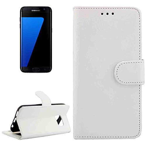 Para Samsung Galaxy S7 Edge / G935 Funda magnética de cuero de textura horizontal y flip decaballo lococon soporte ajustable y ranuras de tarjetas y marco de fotos y billetera ( Color : Blanco )