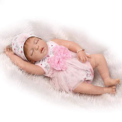 SERBHN 57Cm Reborn Baby Doll Vinyl Silicone Cuerpo Completo Farcie Life Girl Baby Doll Doll Bath Toy For Kid Cumpleaños Regalos-Default