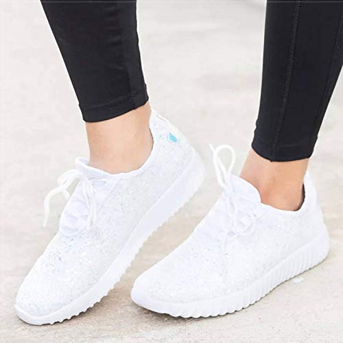 N-B Zapatos planos para mujer, zapatos deportivos, cojín de aire ligero, talla grande, zapatos casuales para mujer, transpirables y absorbentes del sudor