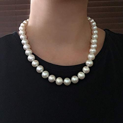 White Pearl Necklace Silver Tone Black Pearl Necklace Toggle Clasp Beaded Pearl