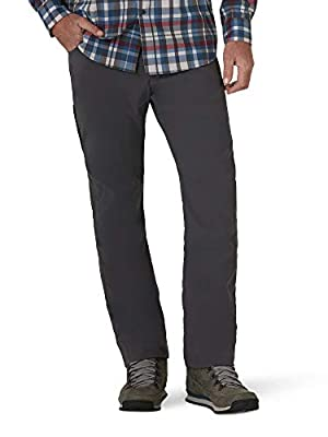 ATG by Wrangler Men's Fleece Lined Utility Pant, Magnet, 32W x 30L