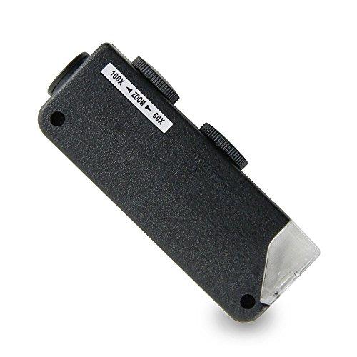 AgroMax 60x-100x Mini LED Lighted Pocket Microscope
