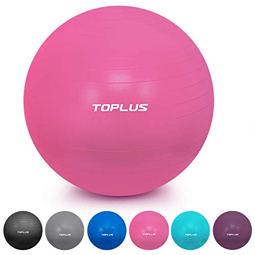 TOPLUS Gymnastikball Sitzball Extra Dicker Yoga-Ball-Stuhl, Anti-Berst-Stabilitätsball für hohe Beanspruchung, Balance Ball mit Schnellpumpe-Rose&65cm