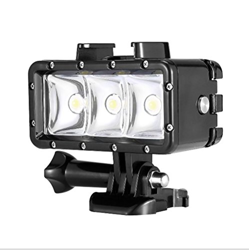 'Orsda Underwater Diving Light 30M Impermeable 3 LED Lámpara de buceo Video light hight Power Dimmable luces de cámara de buceo