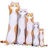 Juting Long Cotton Cuddly Sleeping Pillow,Cute Plush Cats Doll Soft Stuffed Kitten Pillow Doll Toy...