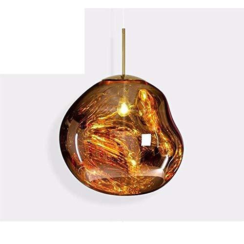 Moderne hanglamp, Melt glazen kroonluchter, Lava Onregelmatige Opknoping Lamp, Creative Licht van het Plafond voor Woonkamer Slaapkamer Restaurant,Gold,D27cm