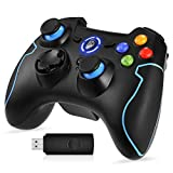 EasySMX PC Controller, Wireless Controller Gamepad Kompatibel mit Windows XP und Vista, Windows 8, PS3, Android und Reichweite bis zu 10M (Blau)