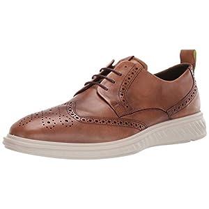 ECCO Men's ST.1 Hybrid Lite Brogue Shoe, Amber, 45 M EU (11-11.5 US)