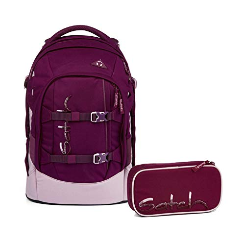 Satch Pack Solid Purple Special Edition Schulrucksack Set 2tlg.