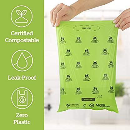 Pogi's Compostable Poop Bags - 9 Rolls (135 Bags) - Leak-Proof, Extra-Large, Plant-based, ASTM D6400 Certified Home Compostable & Biodegradable Waste Bags for Dogs 4