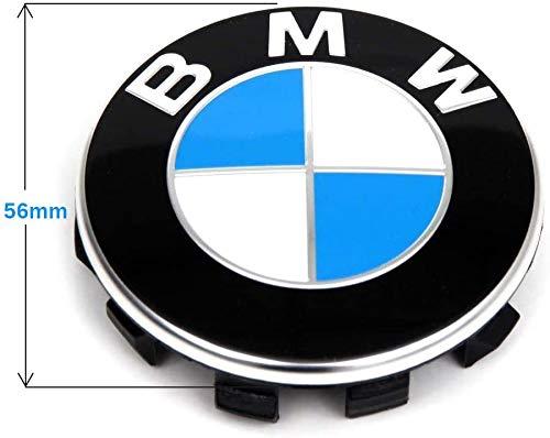 IPRIME Set von 4 Nabenabdeckung Nabenkappen Felgendeckel Radnabendeckel für BMW, Nabendeckel 56mm Felgenkappen für Felgen Wheel Centre hub caps