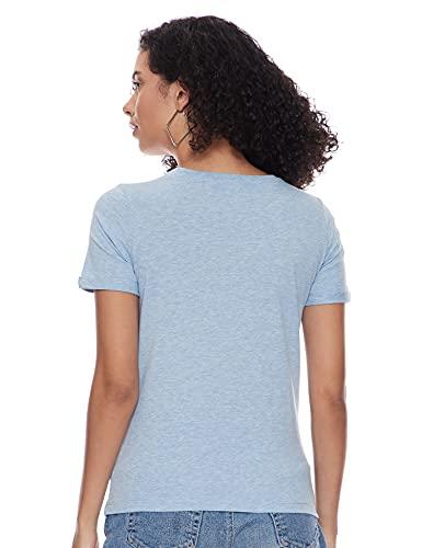 Max Women's Slim T-Shirt (SU21YCP18BLUE_Blue XL)